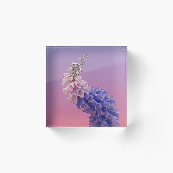Flume Skin flower  Acrylic Block