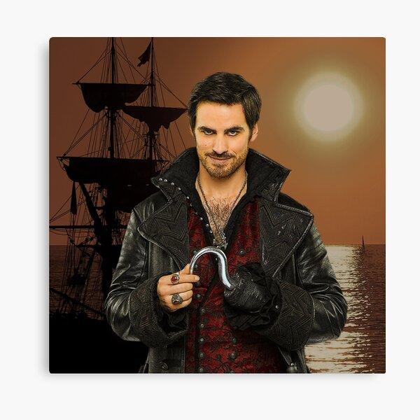 "Captain Hook Comic Poster ""Sunset"" Logoless Design Canvas Print"