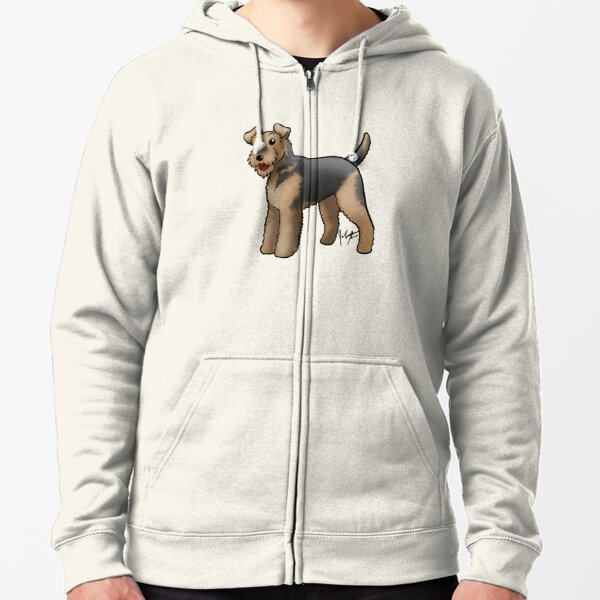 Airedale  Zipped Hoodie