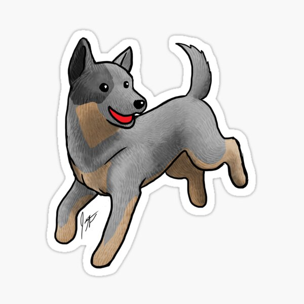 Australian Cattle Dog/ Blue Heeler Sticker