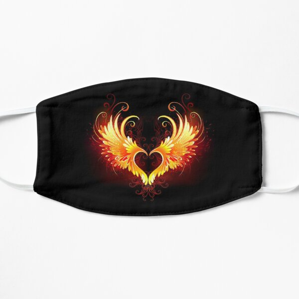 Angel Fire Heart with Wings Mask