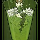 Art Nouveau Absinthe Poster by Lily McDonnell