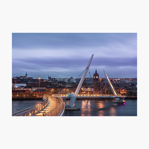 Peace Bridge in Derry Photographic Print