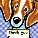 Beagle Thank You Cards by offleashart