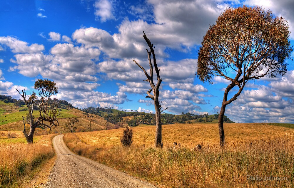 Take me Home Country Roads - Somewhere Near Oberon - The HDR Experience by Philip Johnson