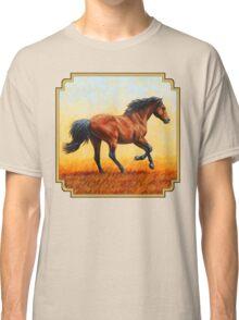 Bay Running Wild Horse Classic T-Shirt