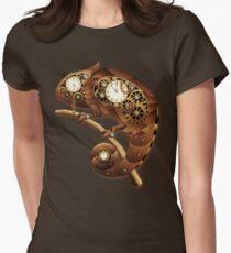 Steampunk Chamäleon Vintage-Stil Tailliertes T-Shirt für Frauen