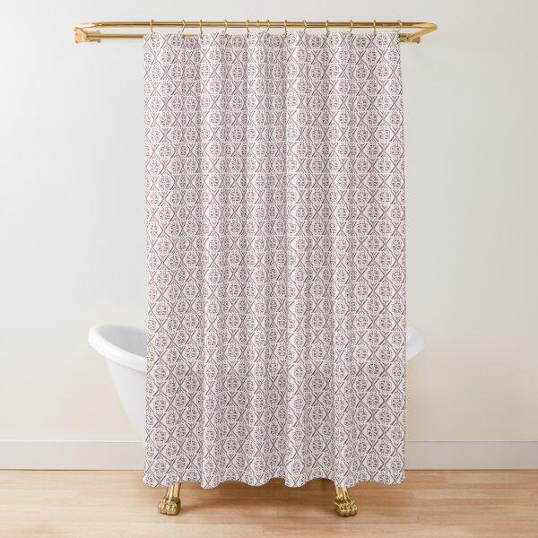 Fairisle Large Scale - Red Shower Curtain