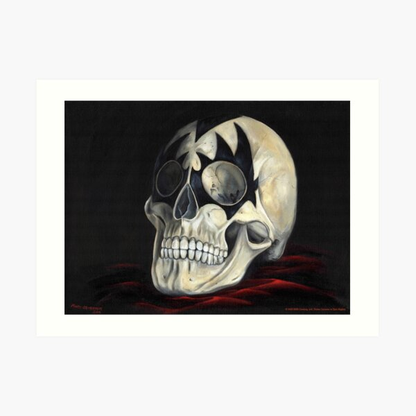 KISS Skull: The Demon Art Print