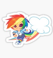 MLP Gijinka Rainbowdash  Sticker