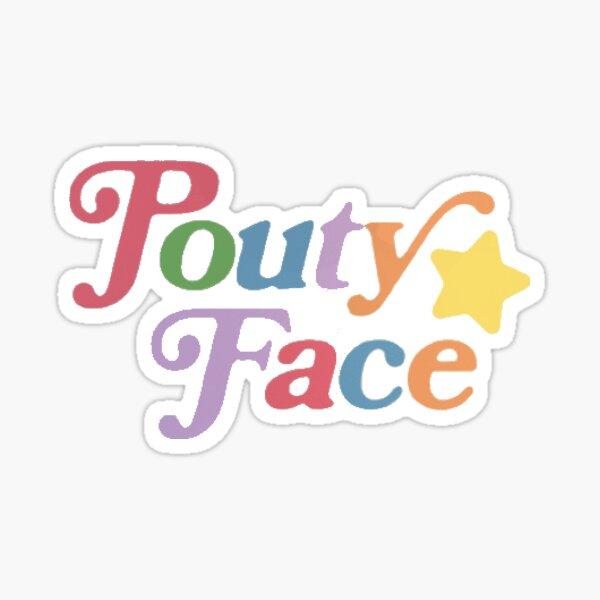 visage pouty - couleur Sticker
