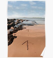 arrows in the sand Poster