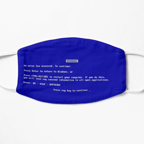 Blue Screen of Death Flat Mask