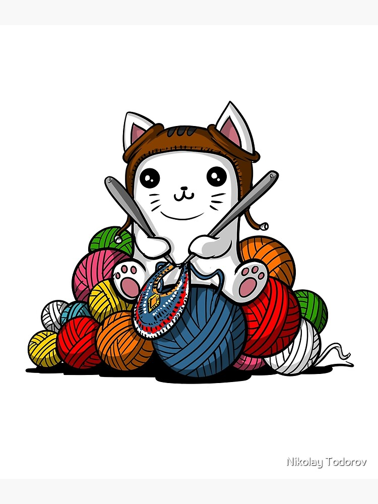 Cat Knitting Yarn by underheaven