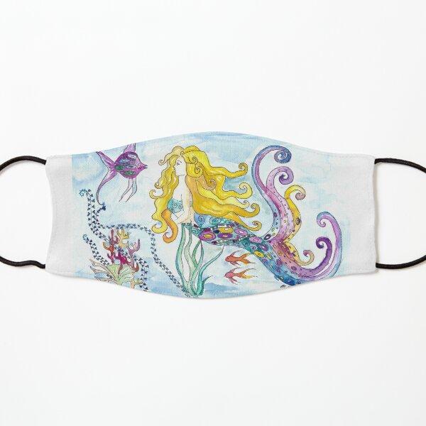 Blonde mermaid mermaid enchants fish - Klimt inspired Kids Mask