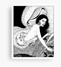 Erzulie calls down the Great Cthulhu Canvas Print