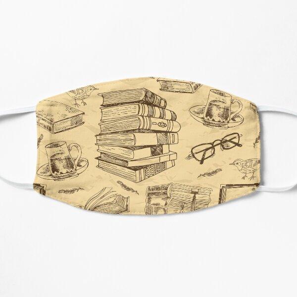 Vintage book pattern Flat Mask