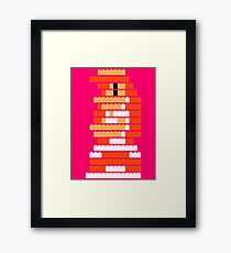 8-Bit Brick Peach Framed Print