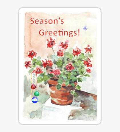Season's Greetings - wishing you love and happiness Sticker