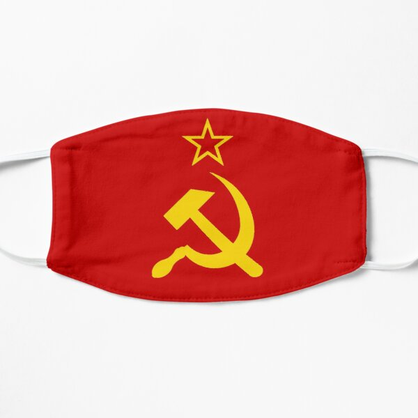 Retro- russische sowjetische Flagge UDSSR Hammer und Sichel CCCP Maske