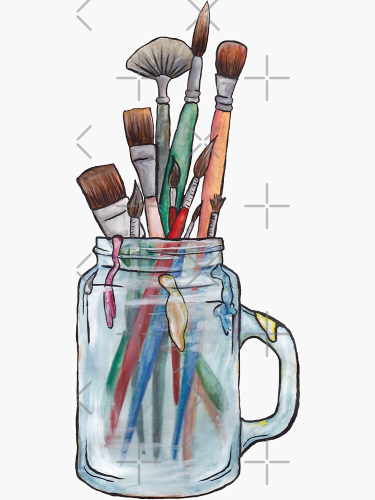 Paint brushes - No background by LeighsDesigns