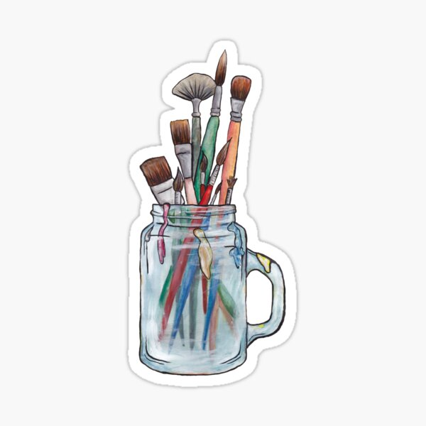 Paint brushes - No background Sticker