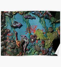 Trilobite & Sprayed Fish Poster