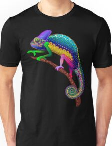 Chameleon Fantasy Rainbow Colors Unisex T-Shirt