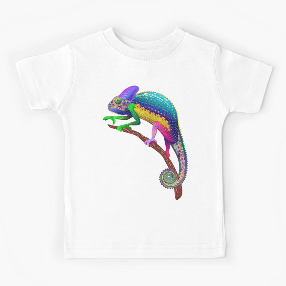 Chameleon Fantasy Rainbow Colors Kids T-Shirt