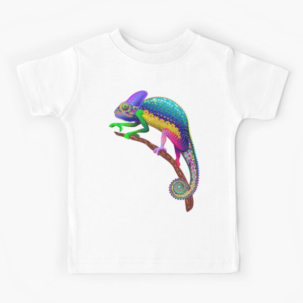 Chameleon Fantasy Rainbow Colors Kids T-Shirt