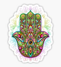 Hamsa Fatma Hand Psychedelic Amulet  Sticker
