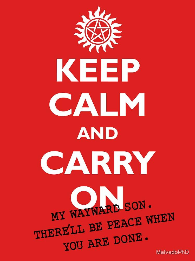 Keep calm and Carry On My Wayward Son | Unisex T-Shirt
