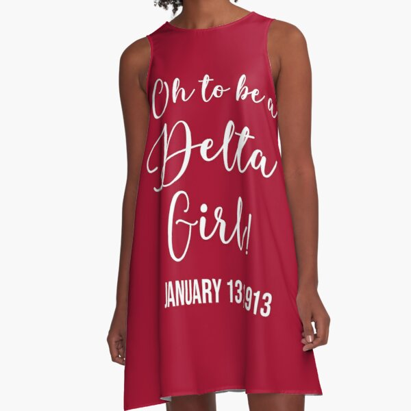 Oh To Be A Delta Girl! January 13, 1913 [Crimson Red Edition] A-Line Dress