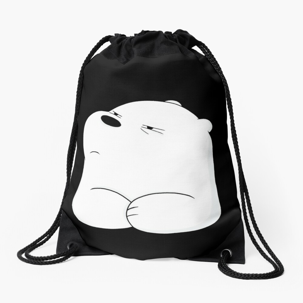 We Bare Bears - Ice Bear  Drawstring Bag