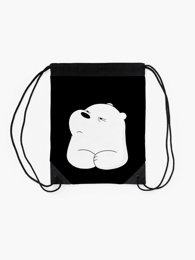 Alternate view of We Bare Bears - Ice Bear  Drawstring Bag