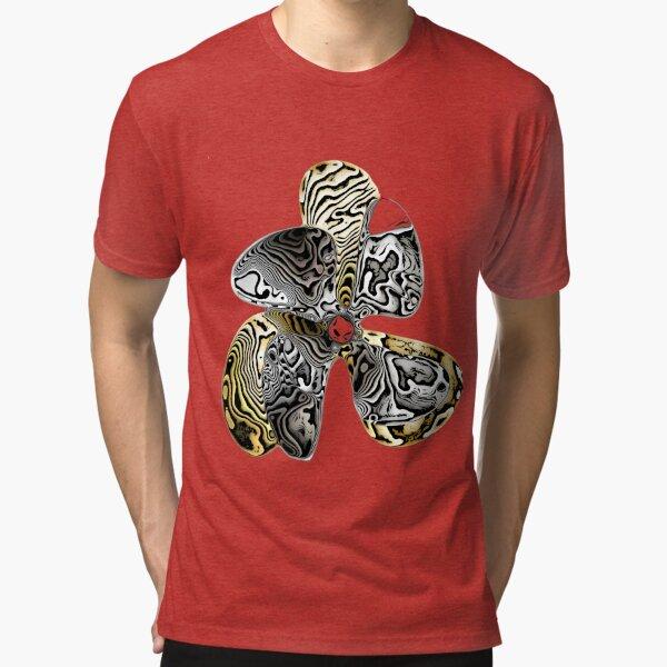 Zebra Prop Flower  Tri-blend T-Shirt