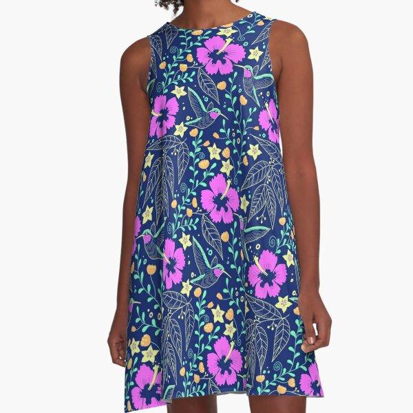 Hawaiian garden A-Line Dress