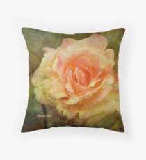 Damaged ~ a Rose with a Message Throw Pillow