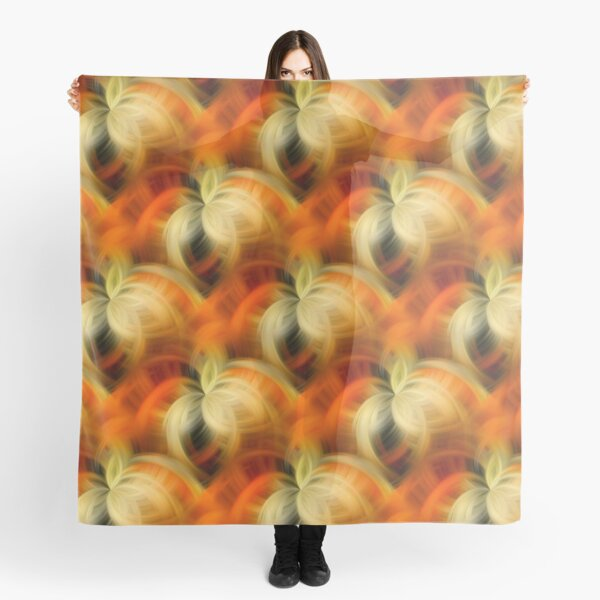 Orange And Cream Abstract Fantasy Scarf