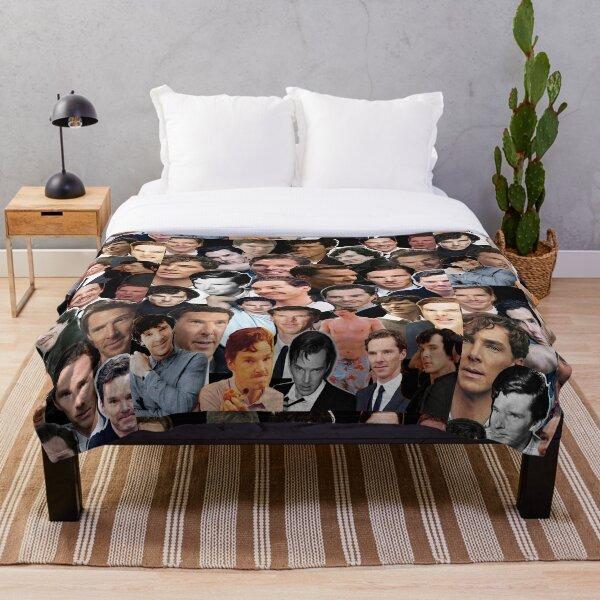 Benedict Cumberbatch Collage Throw Blanket