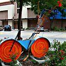 Bicycle Art, Art District, Lincoln Nebraska by Jane Neill-Hancock