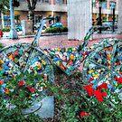Bicycle Art Mosaic style by Jane Neill-Hancock