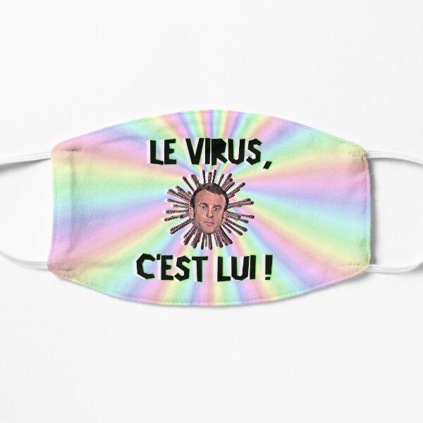 Masque de protection coronavirus, COVID-19, virus MACRON, président de la France Masque sans plis