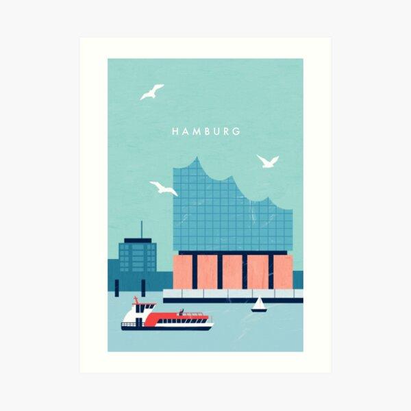 Hamburg Elbphilharmonie Travel Poster Kunstdruck