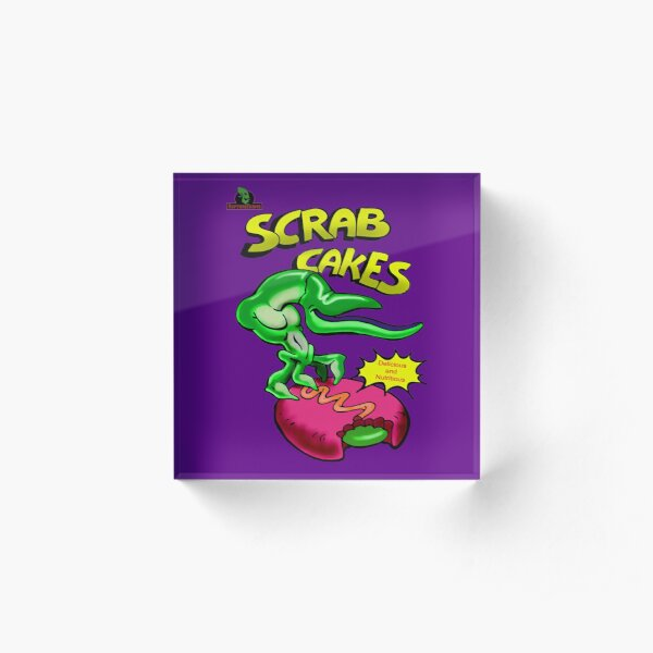 Oddworld - Scrab Cakes Acrylic Block