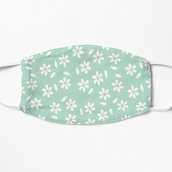 Little White Daisy Flowers Flat Mask