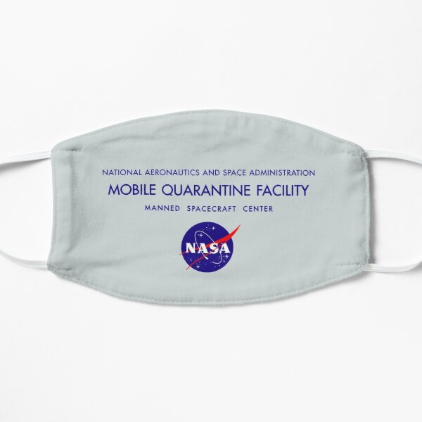 NASA Mobile Quarantine Facility Mask Flat Mask