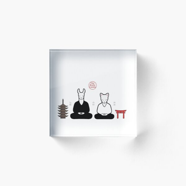 Buddhism meets Shinto  Acrylic Block
