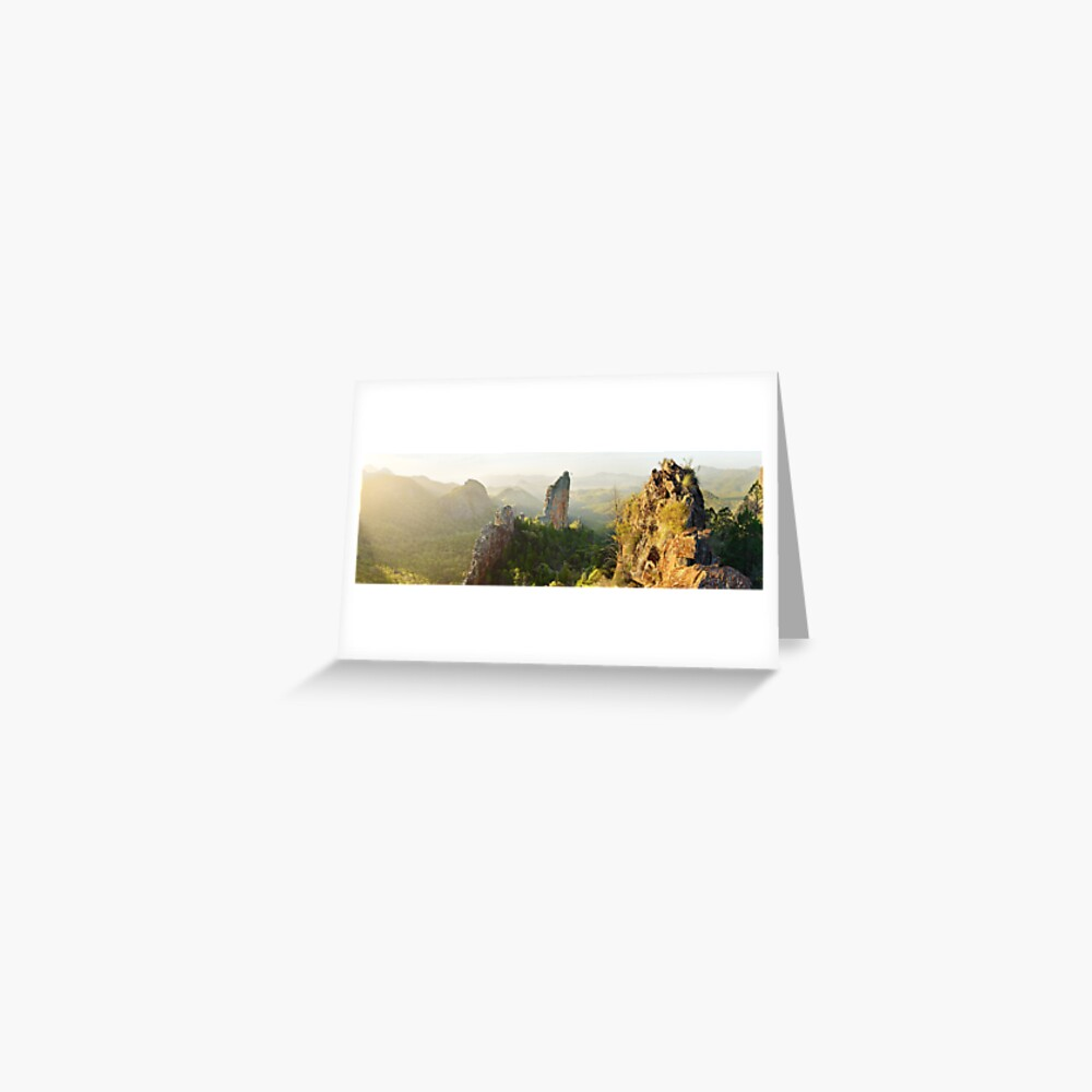 The Bread Knife, Warrumbungles, New South Wales, Australia Greeting Card