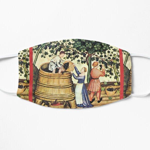 ANTIKE GRAPE VINEYARD HARVEST Mittelalterliche Weinrebenminiatur Maske